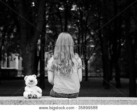 Sad girl portrait.
