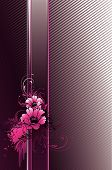 Vector illustration contains images pink vertical banner poster