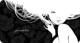 Silhouette Beautiful Girl