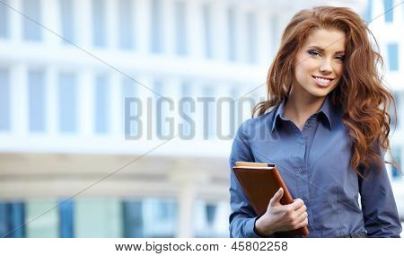 Attractive Real Estate Agent Woman poster