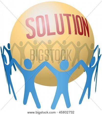 Kreis von Menschen, die halten die Hände Join soziale Lösung zu finden