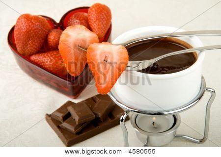 Valentine Chocolate Fondue