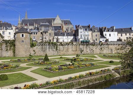 The historic city of Vannes in Brittany, France