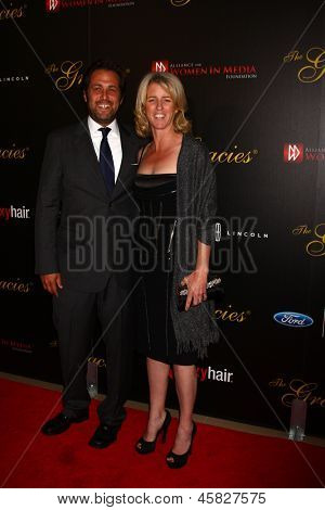LOS ANGELES - MAY 21:  Rory Kennedy and Mark Bailey arrive at the 38th Annual Gracie Awards Gala at the Beverly Hilton Hotel on May 21, 2013 in Beverly Hills, CA