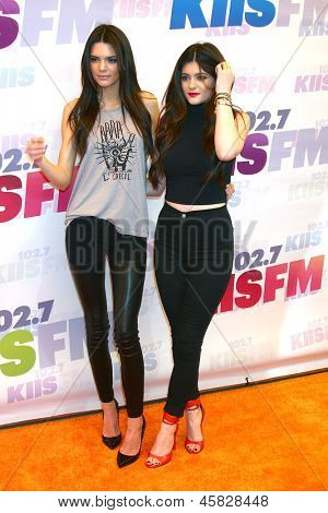 LOS ANGELES - MAY 11:  Kendall Jenner and Kylie Jenner attend the 2013 Wango Tango concert produced by KIIS-FM at the Home Depot Center on May 11, 2013 in Carson, CA