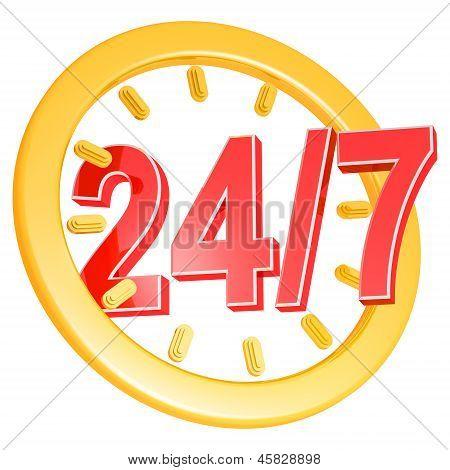 Twenty Four Hour Seven Days A Week Service Sign