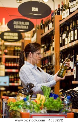 Purchases Of Wine At The Supermarket
