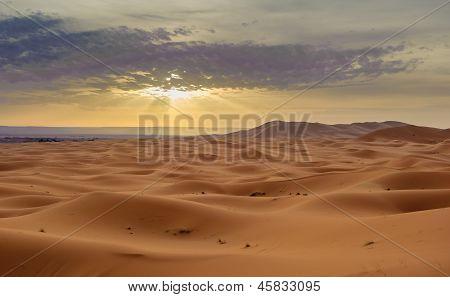 Sand dunes of Erg Chebbi Sahara desert Morocco poster