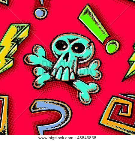 Hand Drawn Cartoon Doodles Seamless Tile