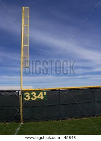 Foul Pole And Fence