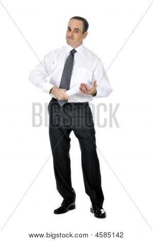 Businessman With Rolled Paper