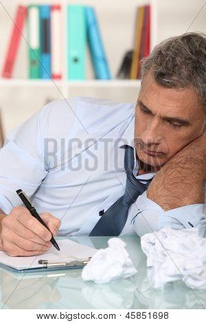 Uninspired writer