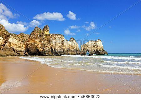 Praia da Tres Irmaos in Alvor in the Algarve Portugal