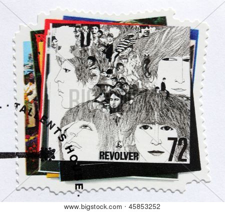 "Beatles Album ""revolver"" Stamp"
