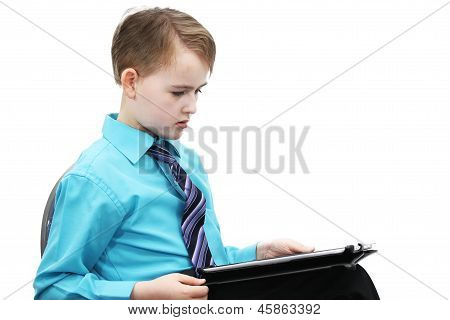 boy with a computer