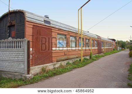 Old Train Wagon Remade In House, Korosten, Ukraine