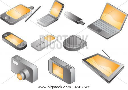 Various Electronic Gadgets, Illustration