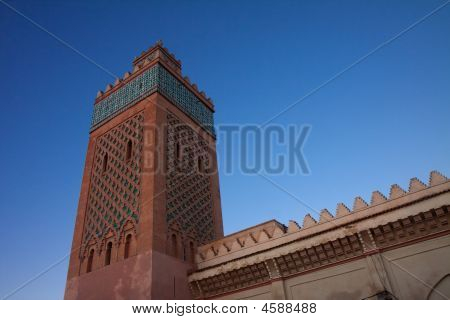 Minaret Of The Kasbah In Marrakesh, Morocco