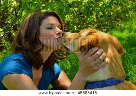 Pretty Girl with her Dog