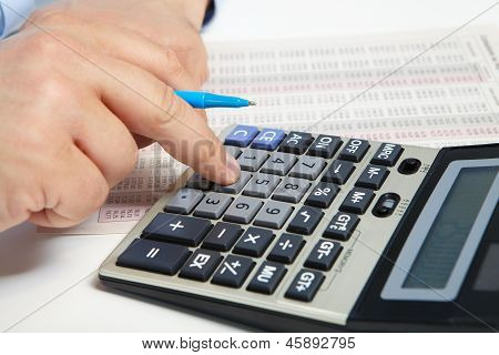 The Businessman And Calculator