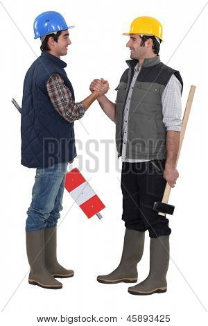 Tradesmen forming a pact