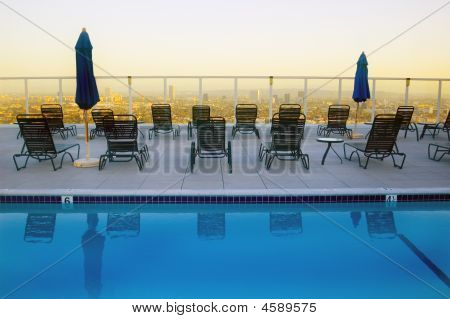 Rooftop Pool Hollywood California
