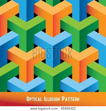 Optical Illusion Seamless Pattern