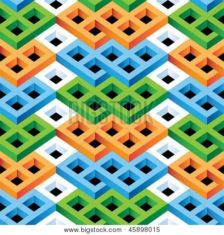 Abstract Optical Illusion Seamless Pattern for Architecture  Design poster