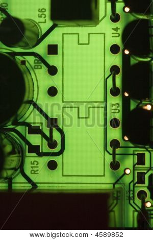 Backligted Pcb Board - Green