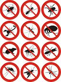 common household pest icon - pest control poster
