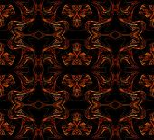 Seamless wallpaper textile pattern or background in multi-colors on a black background. poster