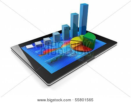 Tablet With Graph