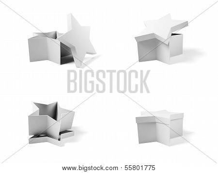 Four Containers Depicted In The Possible Configurations