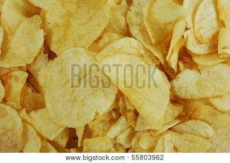 Close Up Of Potato Chips