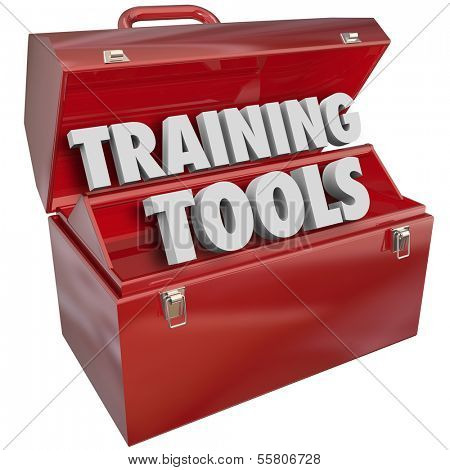 Training Tools Words Red Toolbox Learning Teaching
