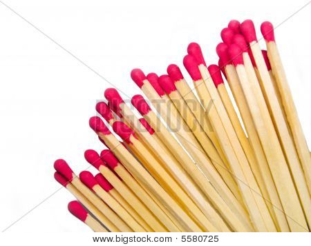Fire Matches On White Background