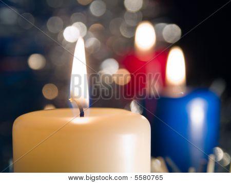 burninging candle new year's subject cristmass