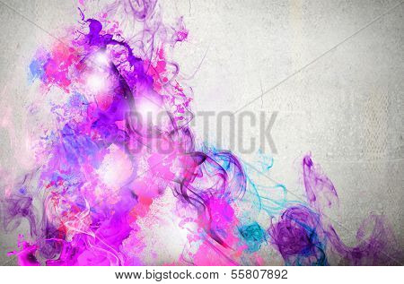 Rock passionate color background with splashes poster