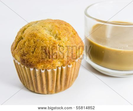 Bannana Muffins And Coffee