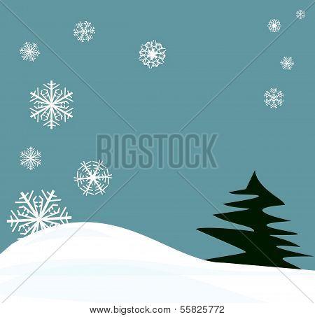 snowflakes winter scene