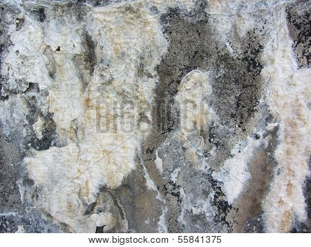 This is grunge textures and mineral and calcium deposits on a stone wall in Fort Wool Virginia. poster