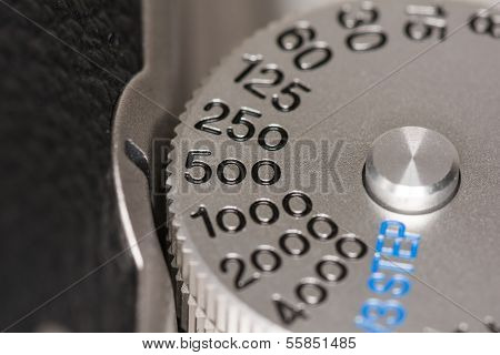 Shutter Speed Dial On A Camera