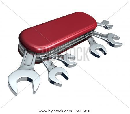 Swiss Knife With Spanners