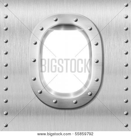 metal porthole or window