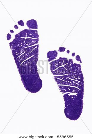 footprint on white background and studio lighting poster