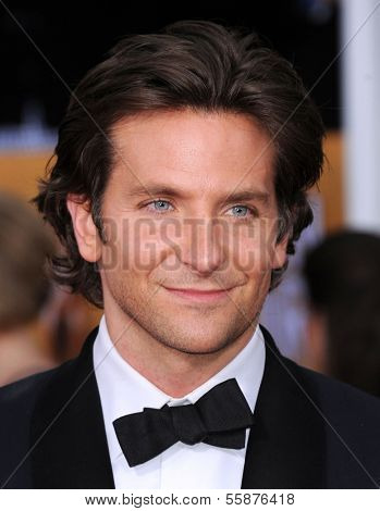 LOS ANGELES - JAN 27:  Bradley Cooper arrives to the SAG Awards 2013  on January 27, 2013 in Los Angeles, CA