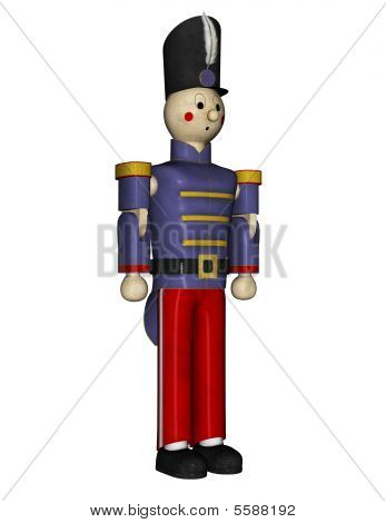 Toy Soldier Standing At Attention
