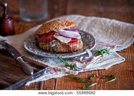 Ham, Cheese, Vegetable Sandwich Board