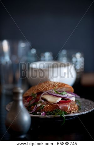 Delicious, Tasty Sandwich With Vegetables