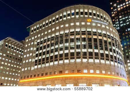 The Thomson Reuters Building In Canary Wharf